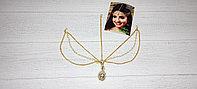 Тика - индийское украшение на голову, Золотистая, 1 шт