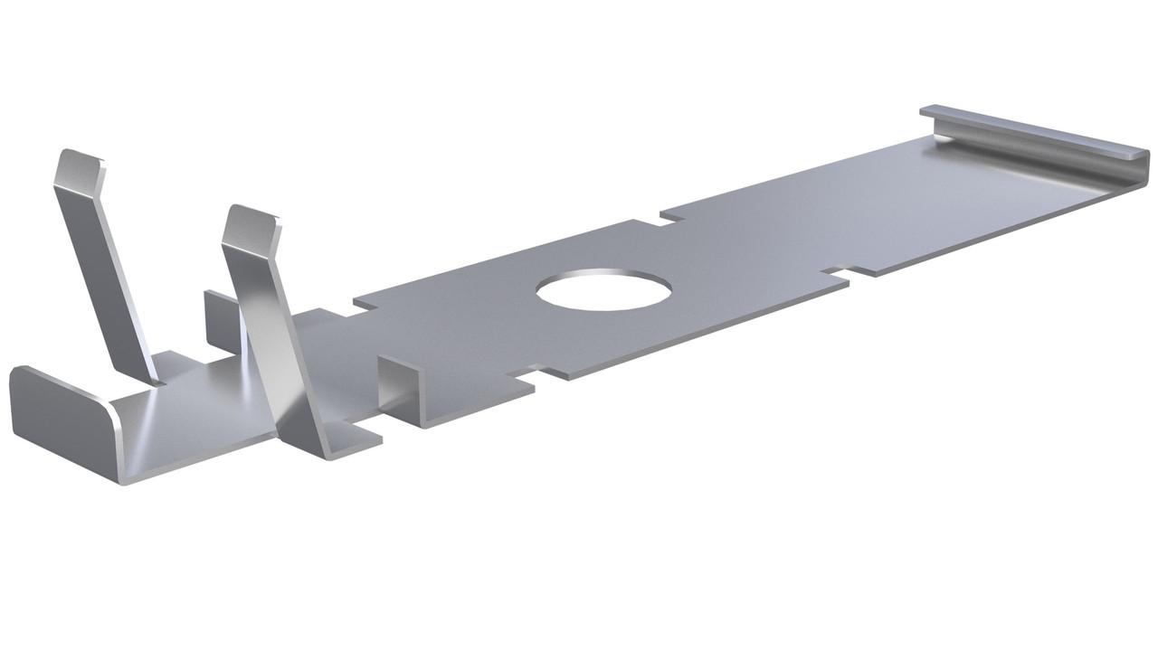 Пластина из нержавейки для монтажа плитки и подсистемы для ступеней