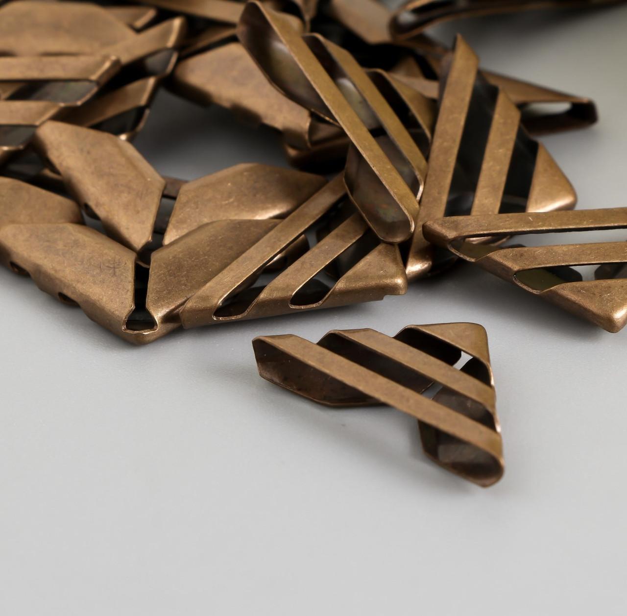 Уголок для блокнотов, античная бронза 1,6х1,6 см (20 штук)