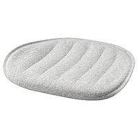 PYNTEN ПЮНТЕН Подушка на сиденье, светло-серый, 41x43 см