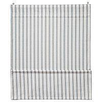 RINGBLOMMA РИНГБЛУММА Римская штора, белый/синий, 80x160 см