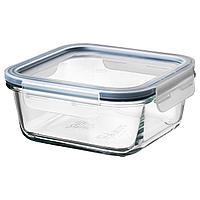 IKEA 365+ ИКЕА/365+ Контейнер для продуктов с крышкой, четырехугольной формы стекло/пластик, 600 мл