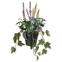 FEJKA ФЕЙКА Искусственное растение в горшке, д/дома/улицы/оформление синий/белый, 12 см
