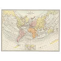 None Холст, Историческая карта, 1881, 200x140 см
