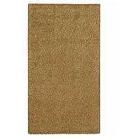 STOENSE СТОЭНСЕ Ковер, короткий ворс, темный золотисто-коричневый, 80x150 см