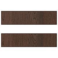SINARP СИНАРП Фронтальная панель ящика, коричневый, 40x10 см