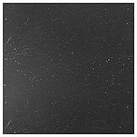 SIBBARP СИББАРП Настенная панель под заказ, черный под мрамор/ламинат, 1 м²x1.3 см