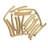 "Декор для творчества металл ""Изогнутая трубка"" набор 20 шт 4х0,5 см"