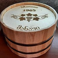 Срез деревянной декоративной бочки (с логотипом) H300 * D500 мм.