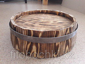 Срез деревянной декоративной бочки H120 * D400 мм.