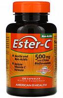 Ester-C с цитрусовыми биофлавоноидами, 500 мг, 120 капсул, American Health