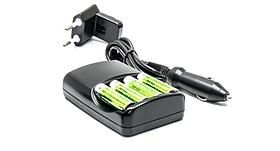 Зарядное устройство для аккумуляторных батарей 4xAА, AC/CAR - IM/R2/GR