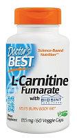 L-карнитин фумарат с карнитинами Biosint, 855 мг, 60 вегетарианских капсул, Doctor's Best