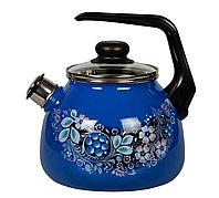 """Чайник эмалированный со свистком """"Вологодский сувенир"""" 3 литра"""