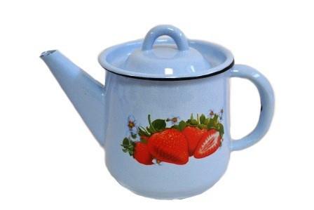 """Чайник эмалированный """"Клубника садовая"""" 1 литр"""