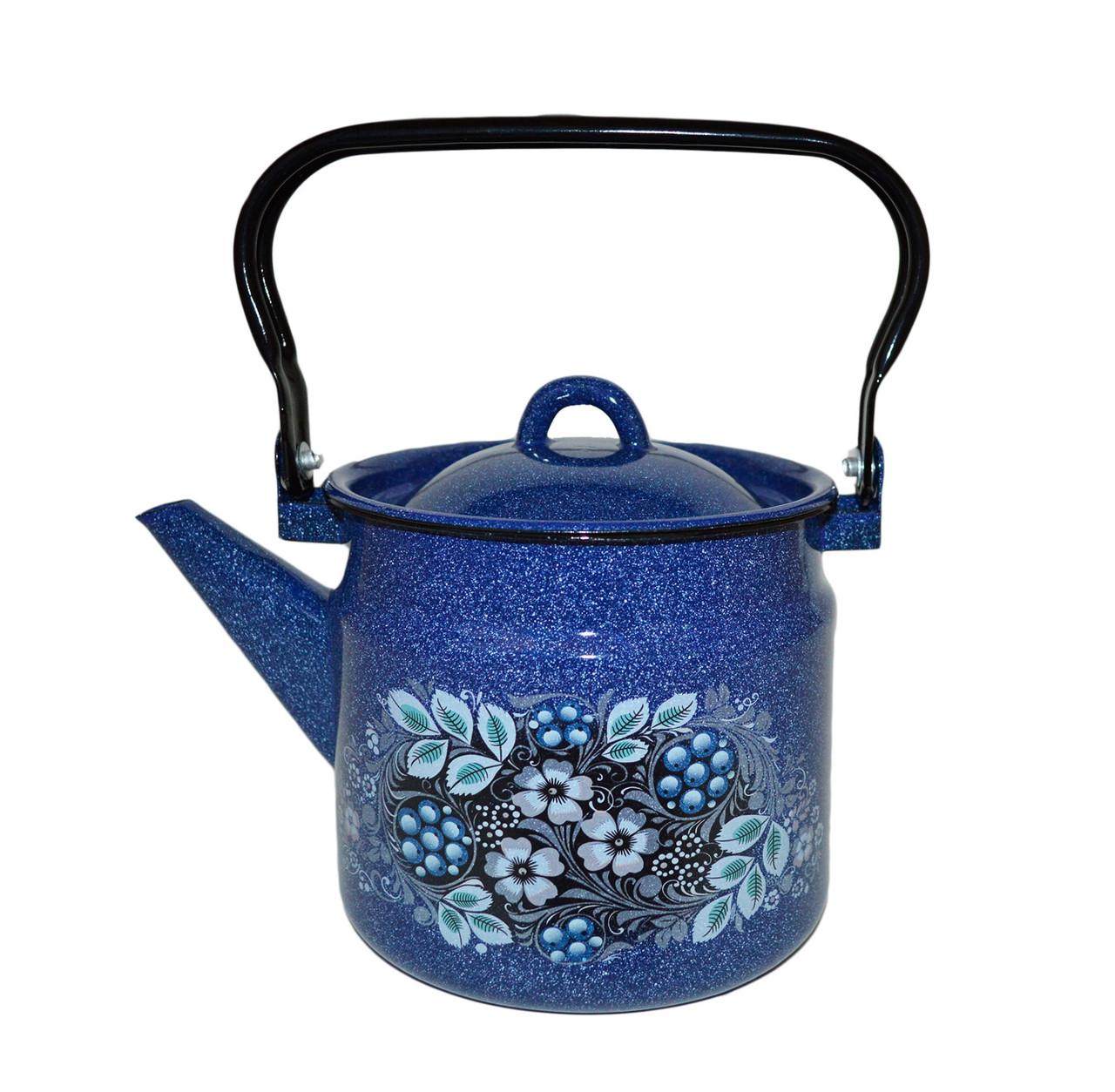 """Чайник эмалированный """"Голубика"""" 2 литра"""