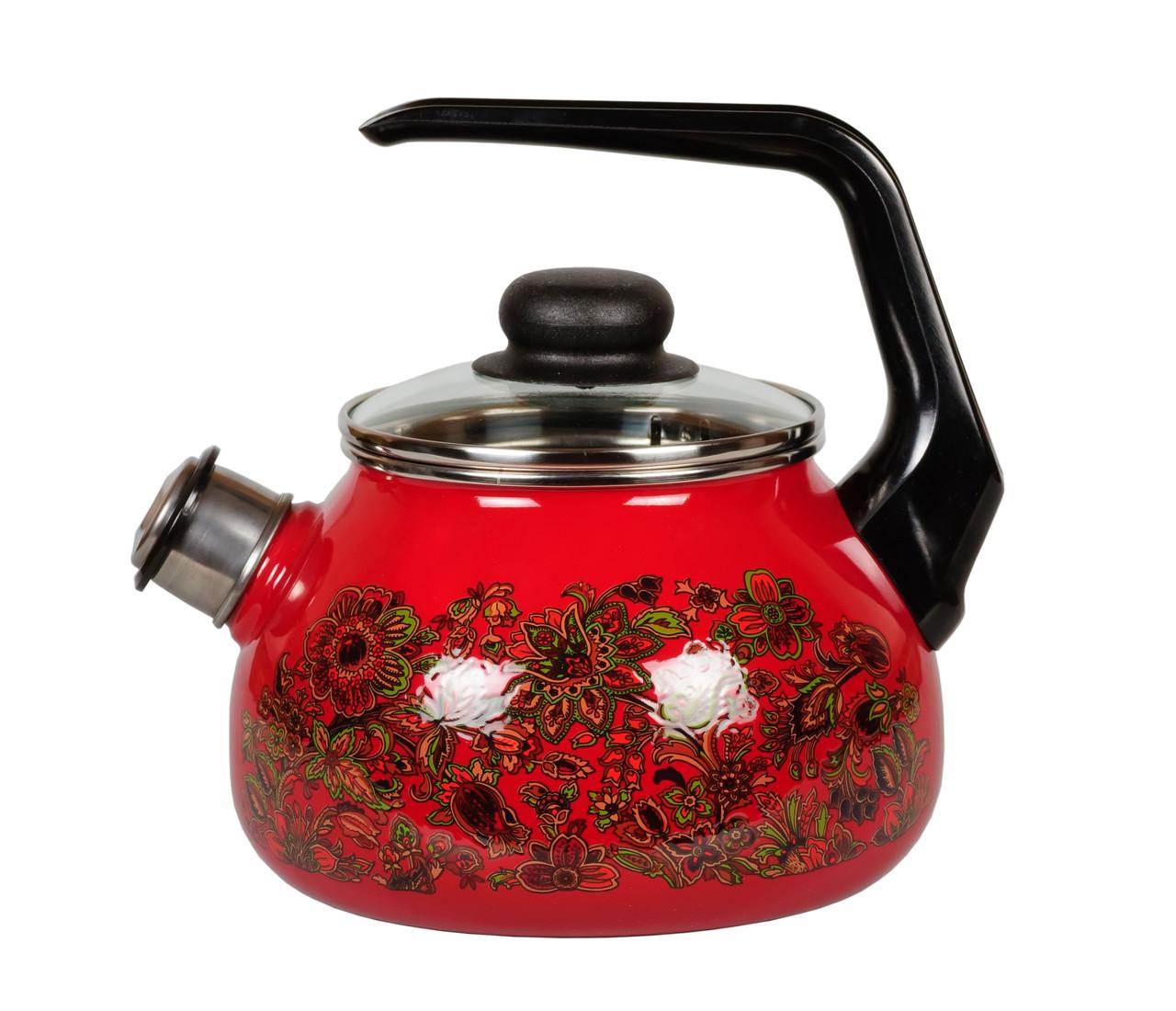 """Чайник эмалированный со свистком """"Imperio"""" 2 литра"""