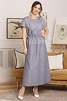Женское летнее голубое нарядное платье Мода Юрс 2658 голубой 48р.