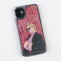Чехол для телефона iPhone 11 с блёстками внутри Ambition, 7.6 × 15.1 см