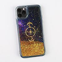 Чехол для телефона iPhone 11 PRO с блёстками внутри Stars, 7.14 × 14.4 см