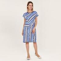 Платье женское 'Саломи', цвет серо-голубой, размер 56