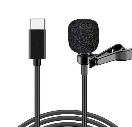 Петличный микрофон UN-203  с разъемом Type C