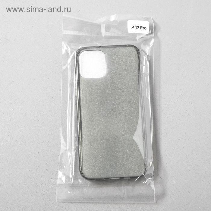 Чехол Activ SC123, для Apple iPhone 12/12 Pro, силиконовый, чёрный - фото 4