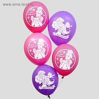 """Воздушные шары «С Днём Рождения», Принцессы Дисней, 5 шт., 12"""""""