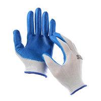 Перчатки нейлоновые, с нитриловым обливом, размер 8, цвет МИКС (комплект из 12 шт.)