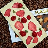 Белый шоколад ручной работы с клубникой, малиной и фисташками, фото 2