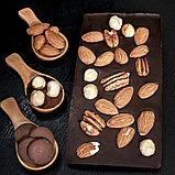 Горький шоколад ручной работы с миндалём, фундуком и орехом пекан, фото 2
