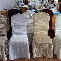 Чехлы на стулья , скатерти от производителя.