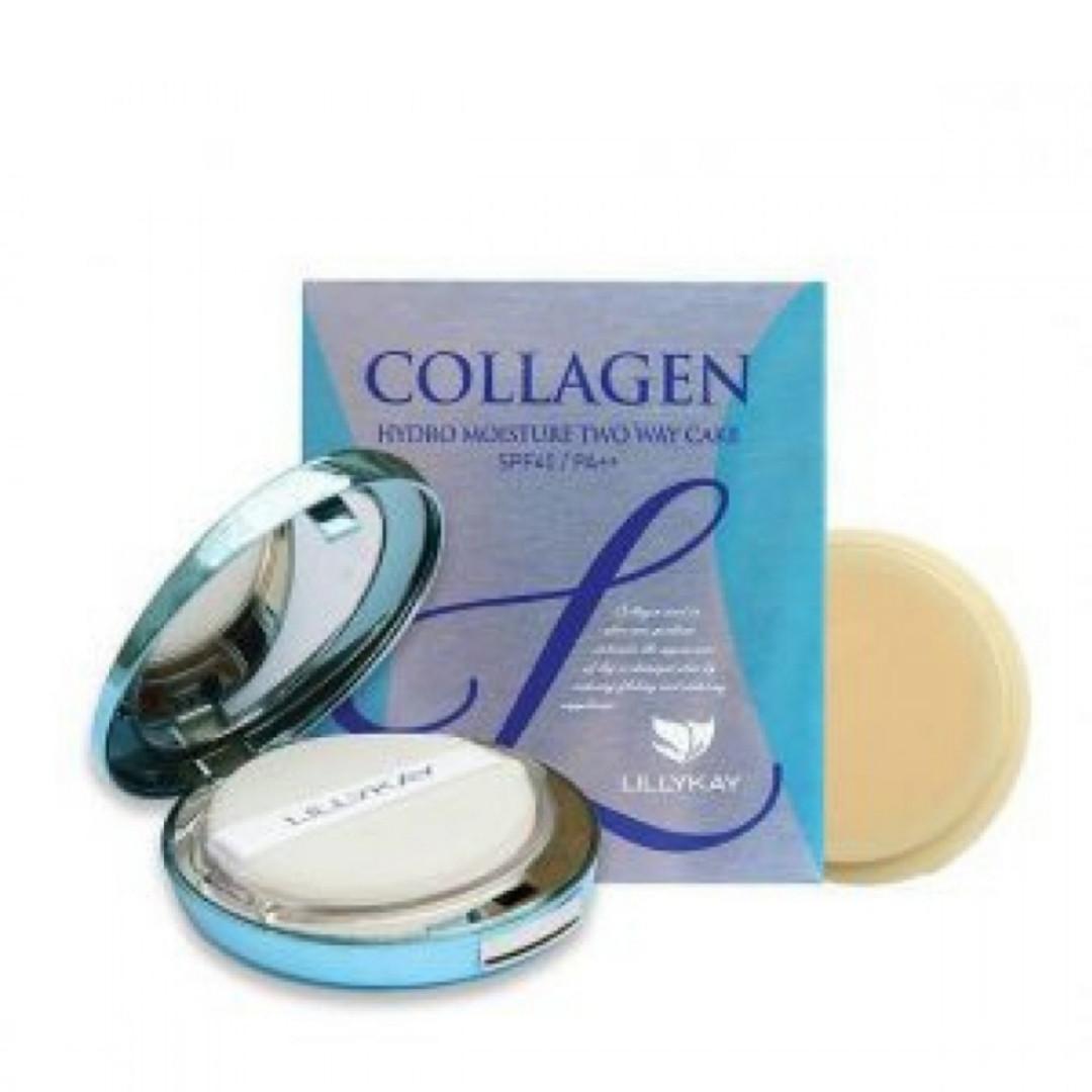 Пудра Collagen Hydro Moisture Two Way Cake (Enough) (#13 и 23) с запаской