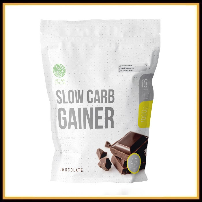Nature Foods Slow Carb Gainer 1кг (ваниль)