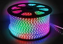 Ленты светодиодные 220 в. В ПВХ оболочке  LED лента SMD 5050, RGB