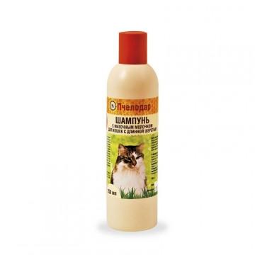 Для кошек с длинной шерстью с маточным молочком, Pchelodar, 250мл.