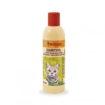 Для кошек с короткой шерстью с маточным молочком, Pchelodar, 250мл.