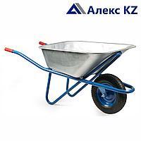 Тачка строительная синяя одноколёсная Эконом 100 л, 180 кг, пневмо 31.100.180