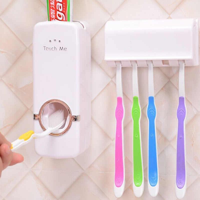 Автоматический Дозатор зубной пасты с держателями для зубных щеток
