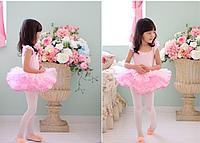 Купальник пачка маечка с бантом Джулия KBTUG112300 Ballet kids Цвет Розовый Размер 7-8 Материал Полиамид