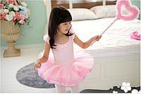 Купальник пачка маечка с бантом Джулия KBTUG112300 Ballet kids Цвет Розовый Размер 9-10 Материал Полиамид