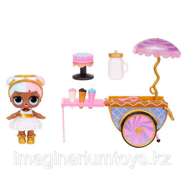 LOL Surprise Furniture игровой набор с мебелью и куклой - Тележка со сладостями