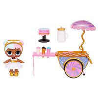 LOL Surprise Furniture игровой набор с мебелью и куклой - Тележка со сладостями, фото 1