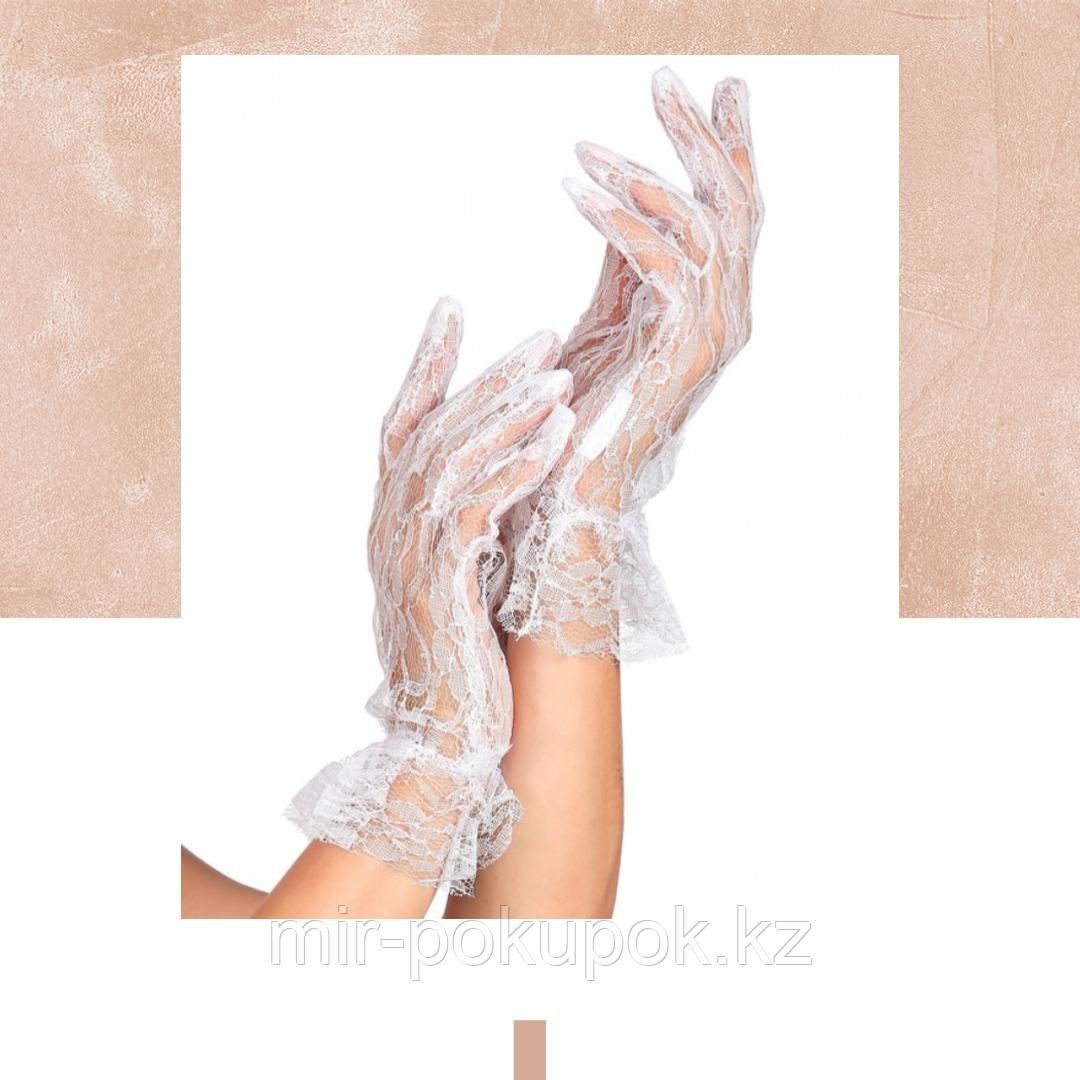 Ажурные короткие перчатки
