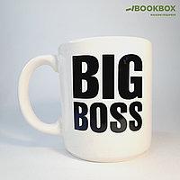 Керамическая кружка «Big Boss», белая, 0.35 л