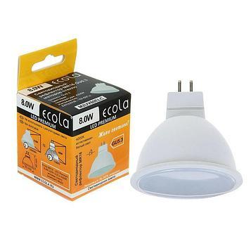 Лампа светодиодная Ecola, MR16, 8 Вт, GU5.3, 4200 K, 48x50 мм
