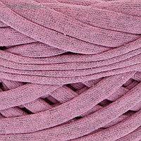 Пряжа трикотажная широкая 50м/160гр, ширина нити 7-9 мм (розовый меланж)