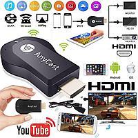 Медиаплеер ресивер WiFi HDMI AnyCAST M9 Plus Display Dongle (Черный), фото 1