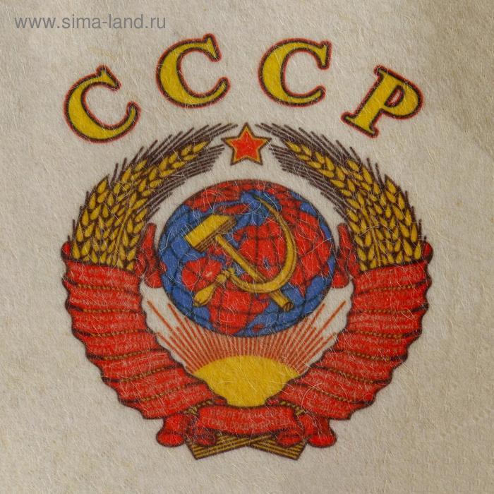 """Шапка для бани и сауны """"СССР"""", с принтом, белая - фото 2"""