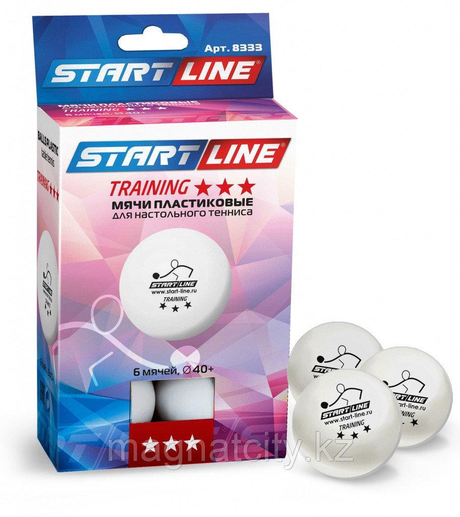 Шарики для настольного тенниса Training 3 (6 мячей в упаковке, белые)